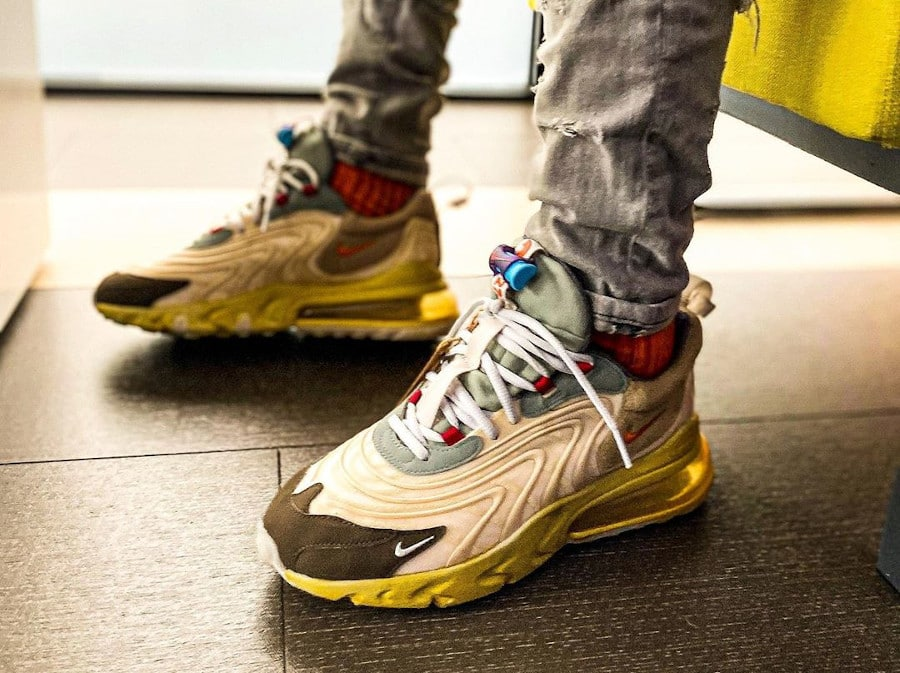 Travis Scott x Nike Air Max 270 React ENG Cactus Jack Trails