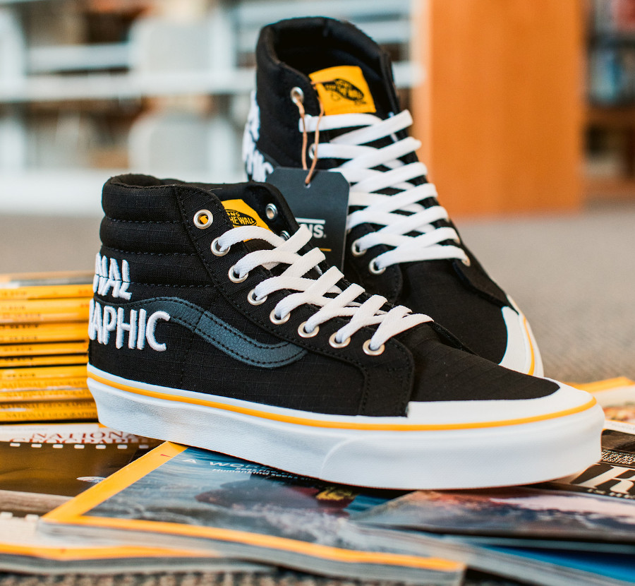 Vans SK8 Hi Reissue Black Yellow VN0A3TKPXHP1 (4)