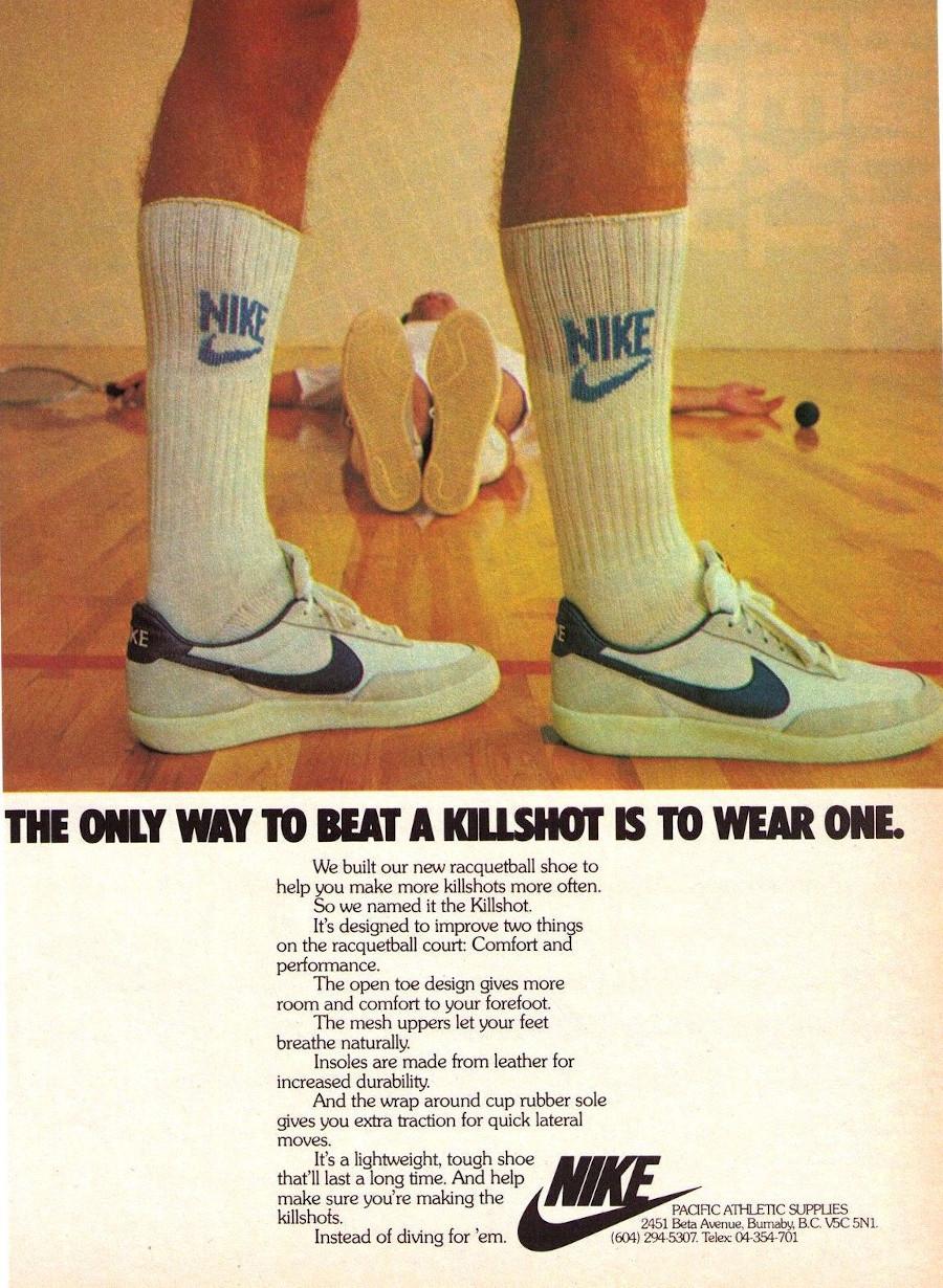 publicité vintage nike killshot