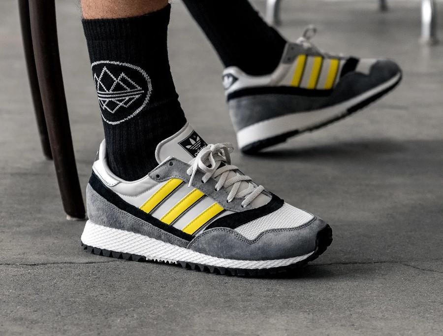 Adidas Ashurst SPZL Grey One Yellow Core Black