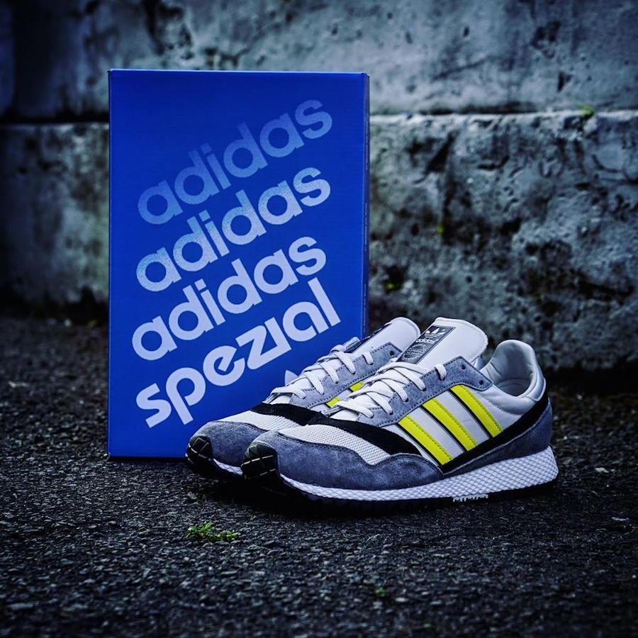 Adidas Ashurst Spezial grise jaune et nooire (1-1)