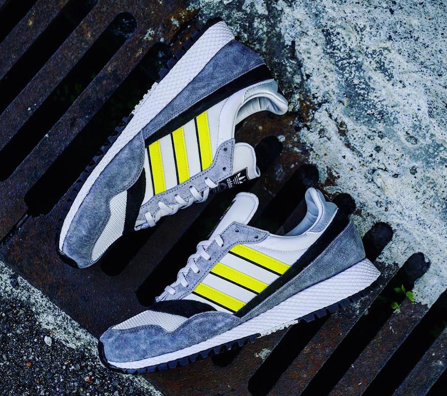 Adidas Ashurst Spezial grise jaune et nooire (2)