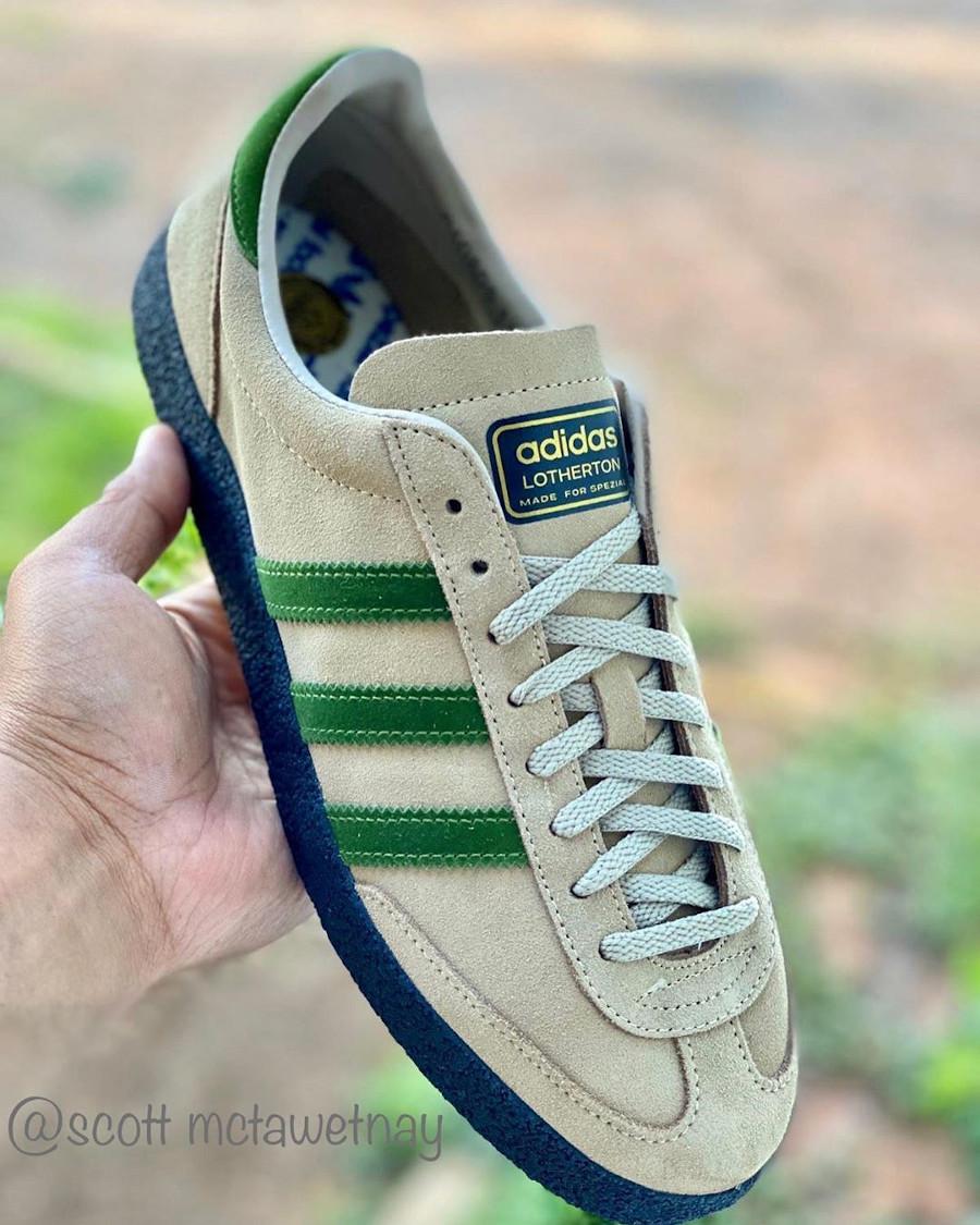 Adidas Lotherton beige et verte (2)