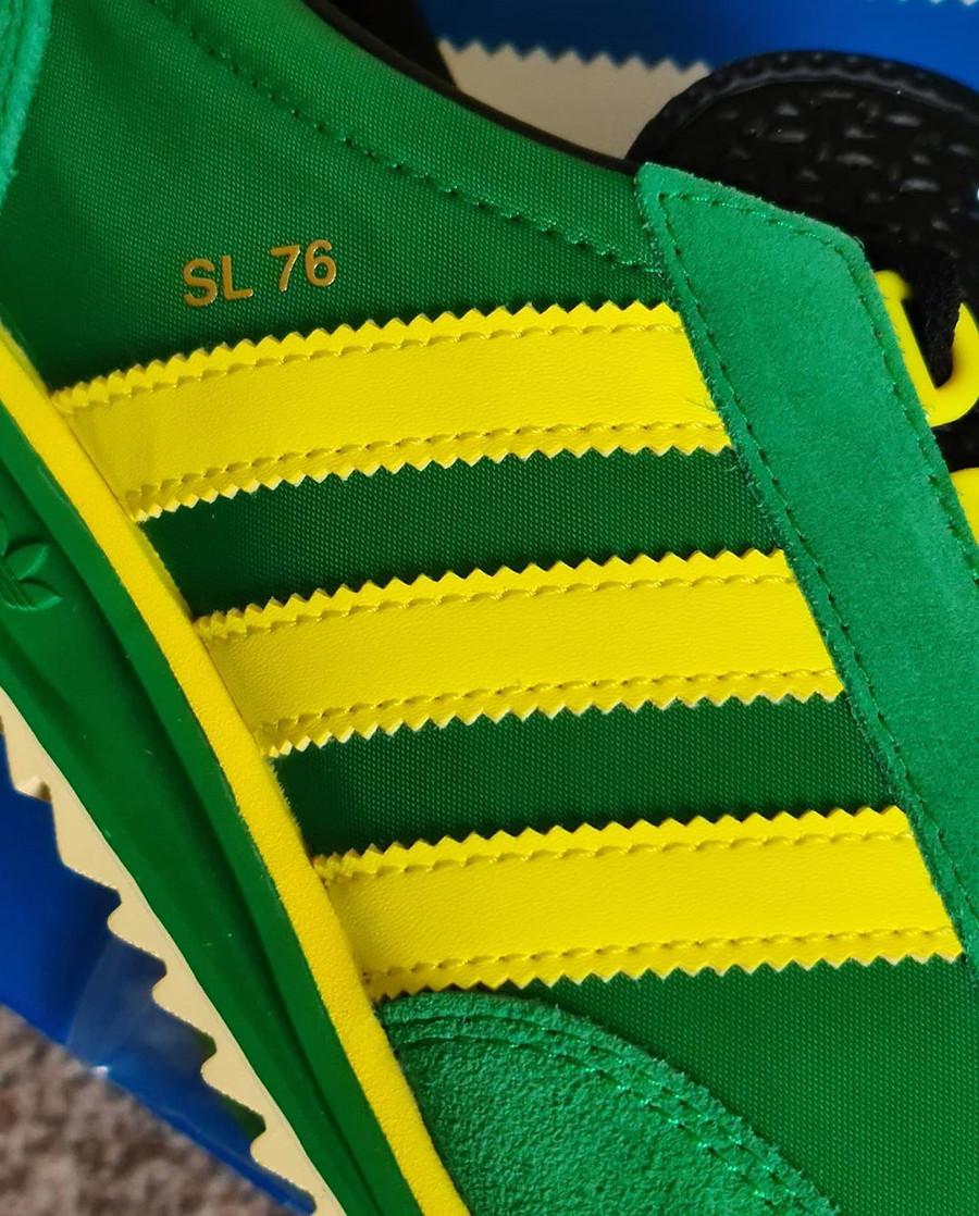 Adidas SL76 2020 verte et jaune (1)