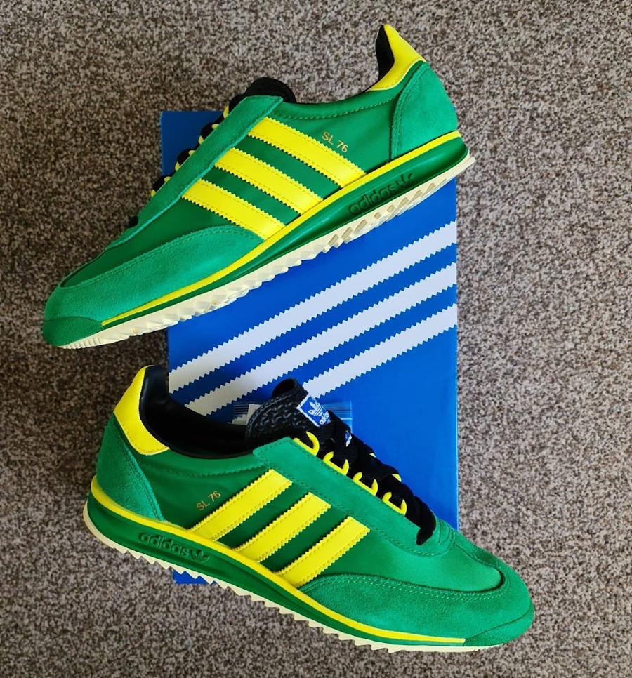 Adidas SL76 2020 verte et jaune (2)