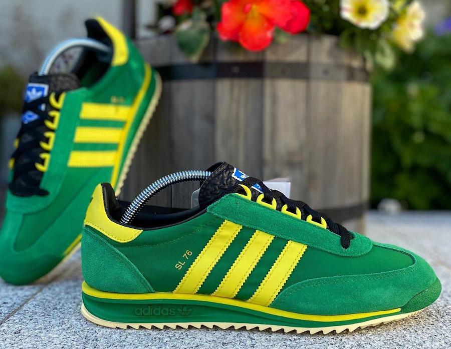 Adidas SL76 2020 verte et jaune (4)