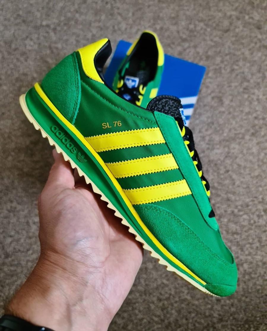 Adidas SL76 2020 verte et jaune (6-1)