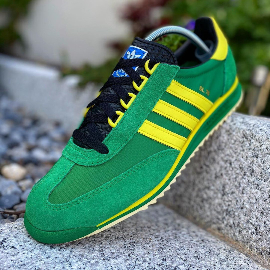 Adidas SL76 2020 verte et jaune (6)