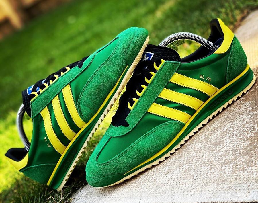 Adidas SL76 2020 verte et jaune (7)