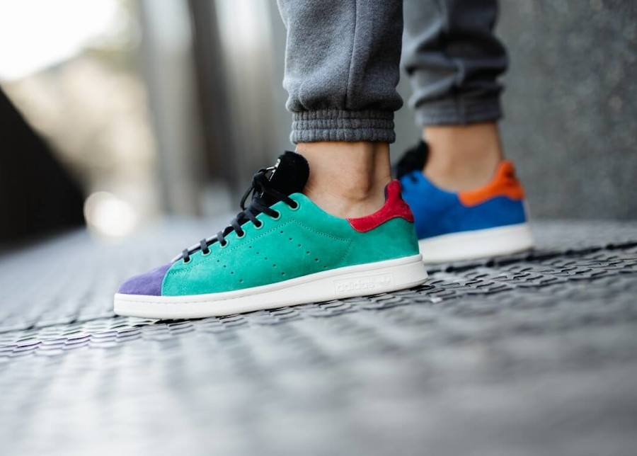 Adidas Stan Smith 2020 multicolore on feet (3)