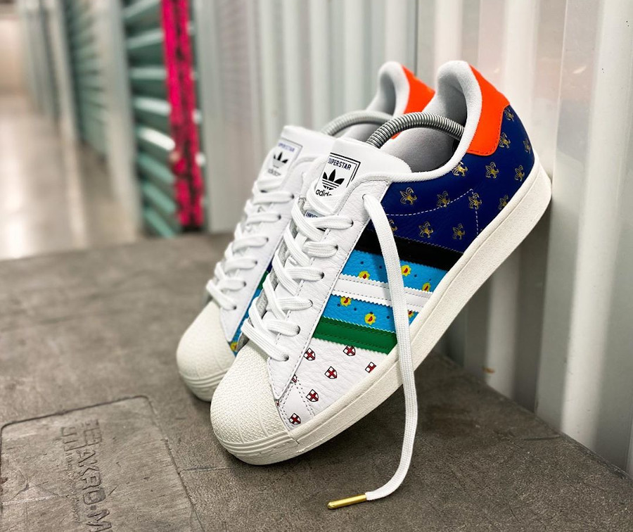 Adidas Superstar 50th Anniversary London Tokyo Paris Buenos Aires Boston Berlin (8-1)