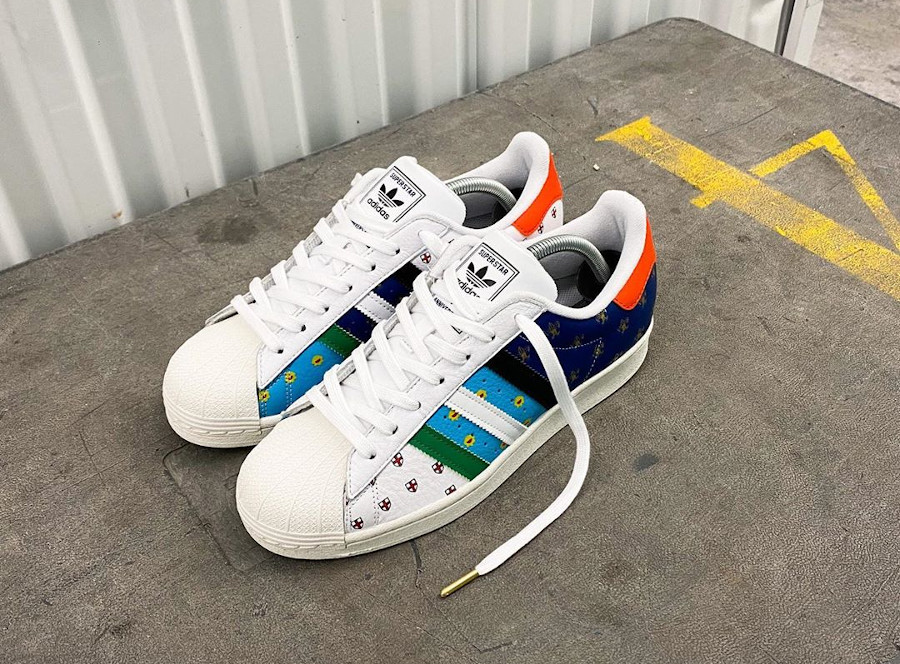 Adidas Superstar 50th Anniversary London Tokyo Paris Buenos Aires Boston Berlin (8-2)