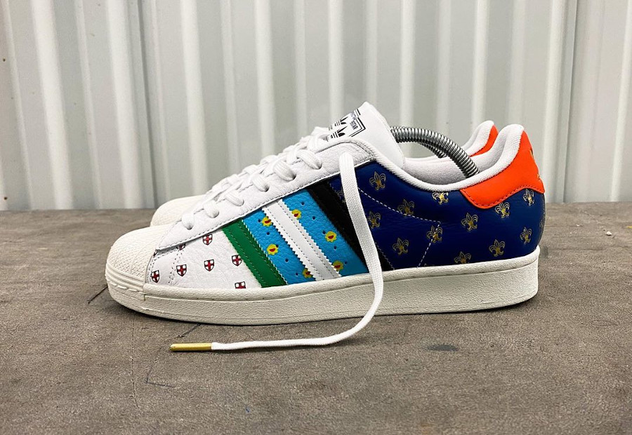 Adidas Superstar 50th Anniversary London Tokyo Paris Buenos Aires Boston Berlin (8-4)
