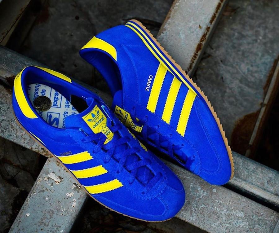 Adidas Zurro SPZL bleu et jaune fluo (1)