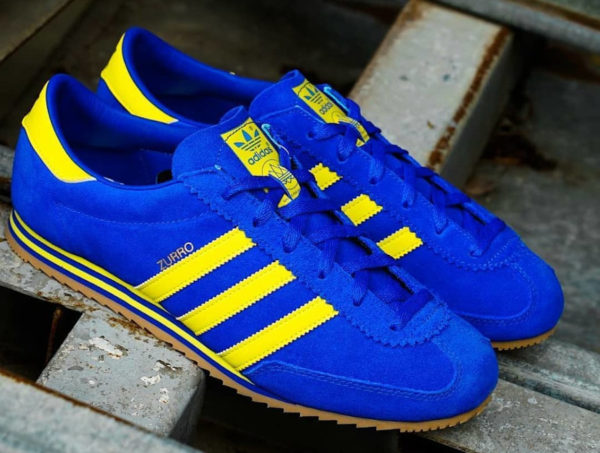 Adidas Zurro SPZL bleu et jaune fluo (2)