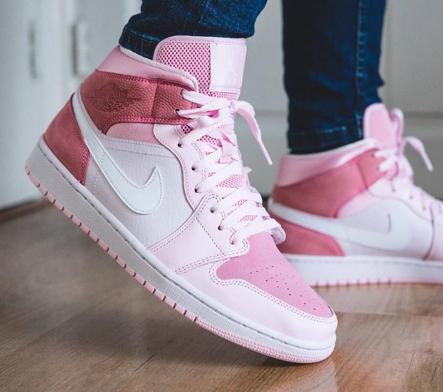 Air Jordan 1 mi-montante rose 2020 pour femme (3)