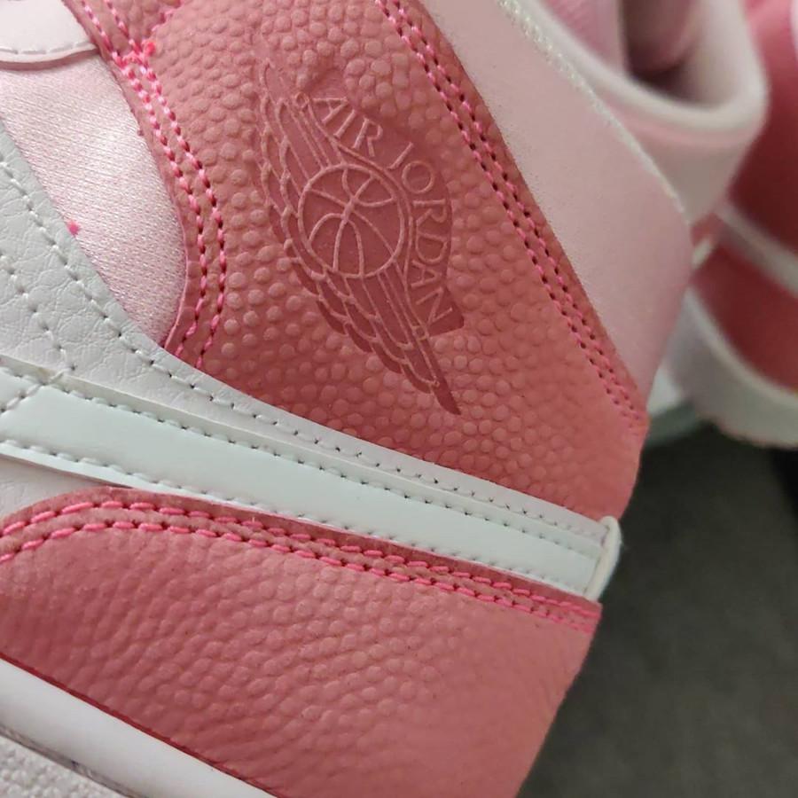 Air Jordan 1 mi-montante rose 2020 pour femme (5)