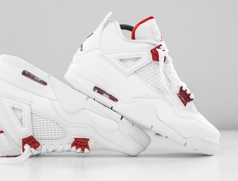 air jordan 4 blanc rouge