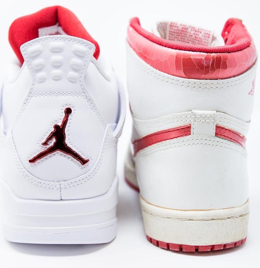 Air Jordan 4 x Air Jordan 1 OG rouge métallique (1)
