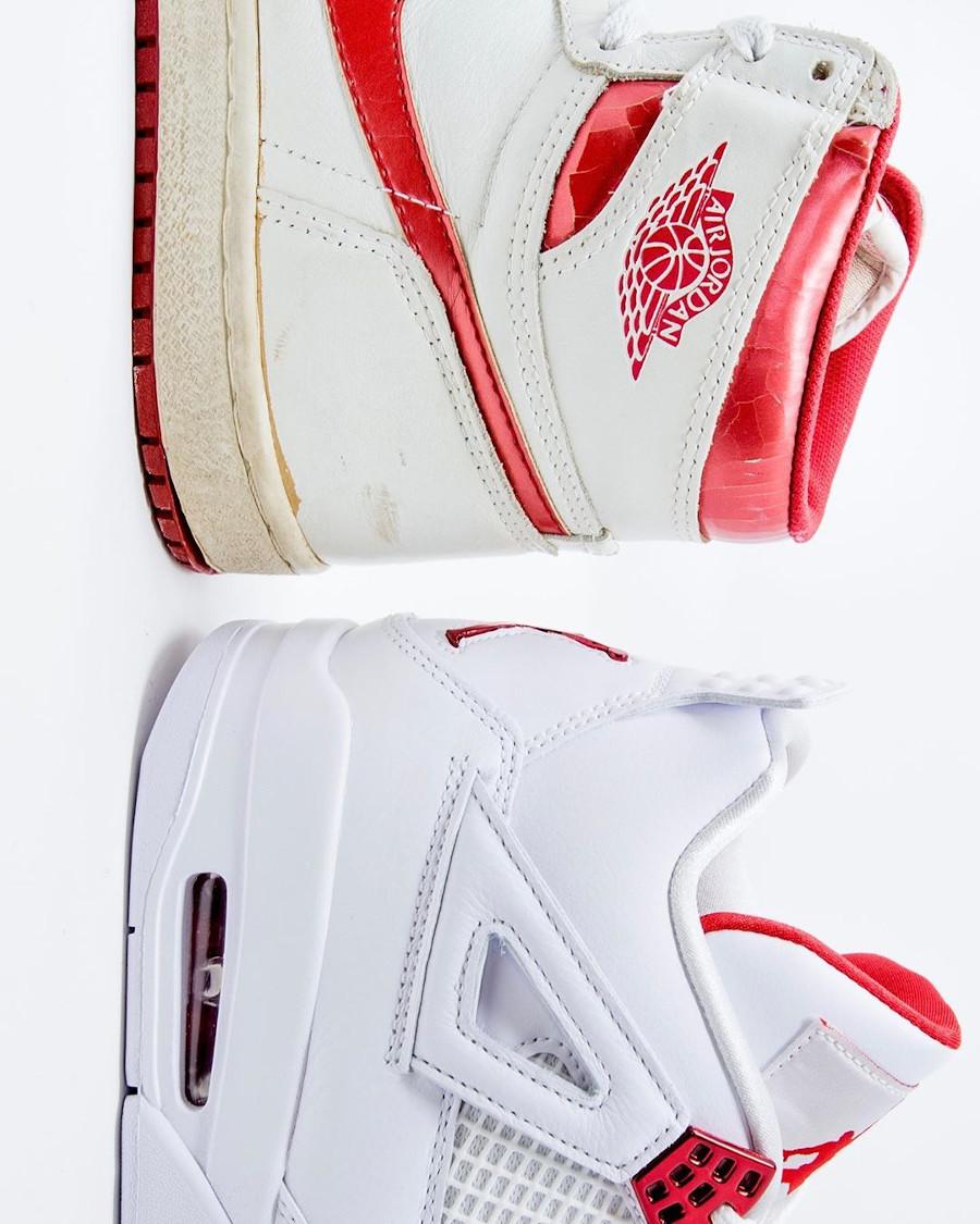 Air Jordan 4 x Air Jordan 1 OG rouge métallique (3)