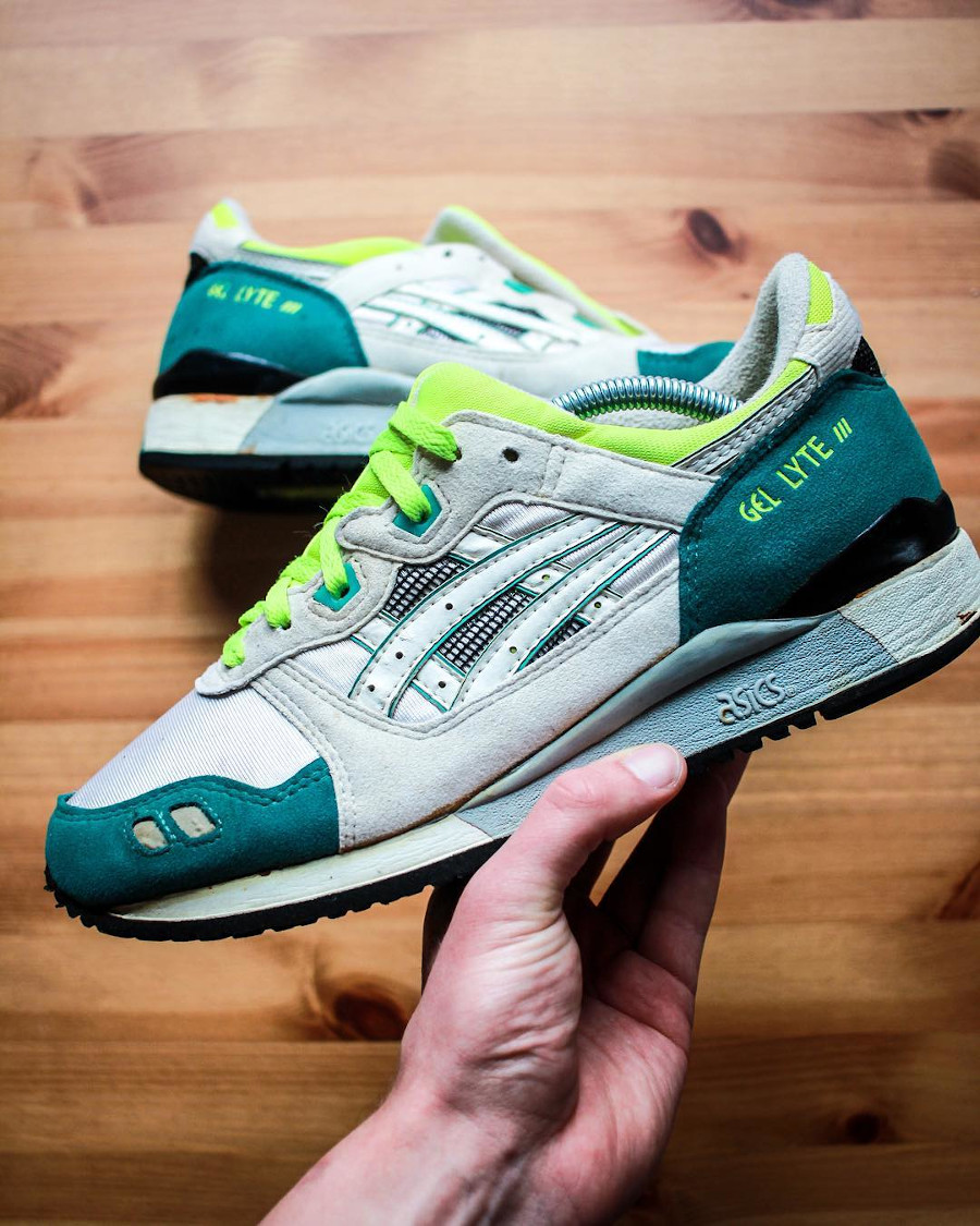 Asics Gel Lyte 3 OG 1990 Citrus Green Yellow - @caleidoscobe