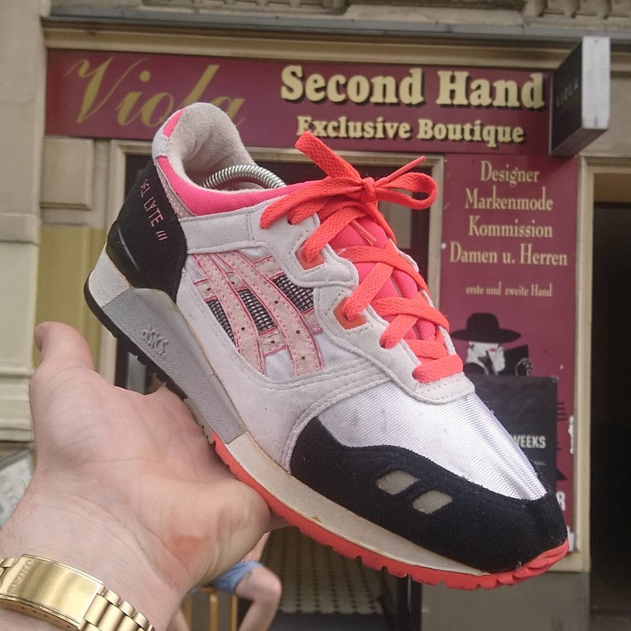 Asics Gel Lyte 3 OG 1990 Flash Coral Orange Blaze - @westend_vintage