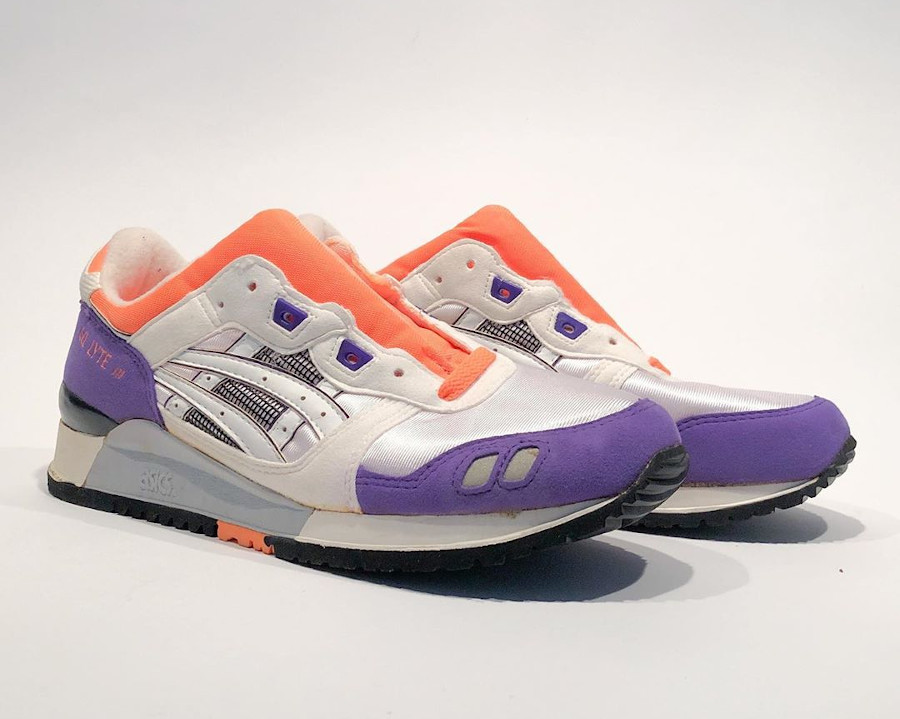 Asics Gel Lyte 3 OG 1990 White Orange Purple @cutch.le.dutch