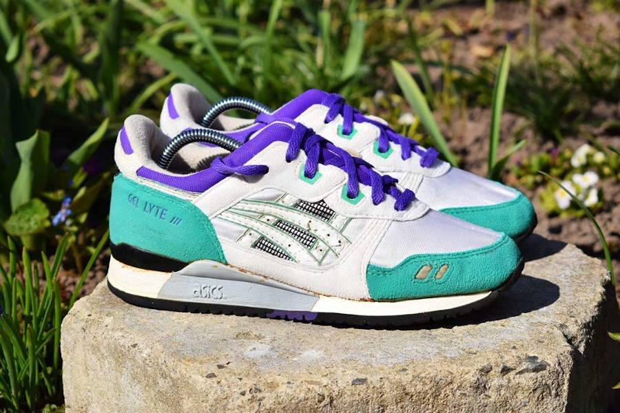 Asics Gel Lyte 3 OG 'Emerald' White Blue 1990 - @camposvintage (1)