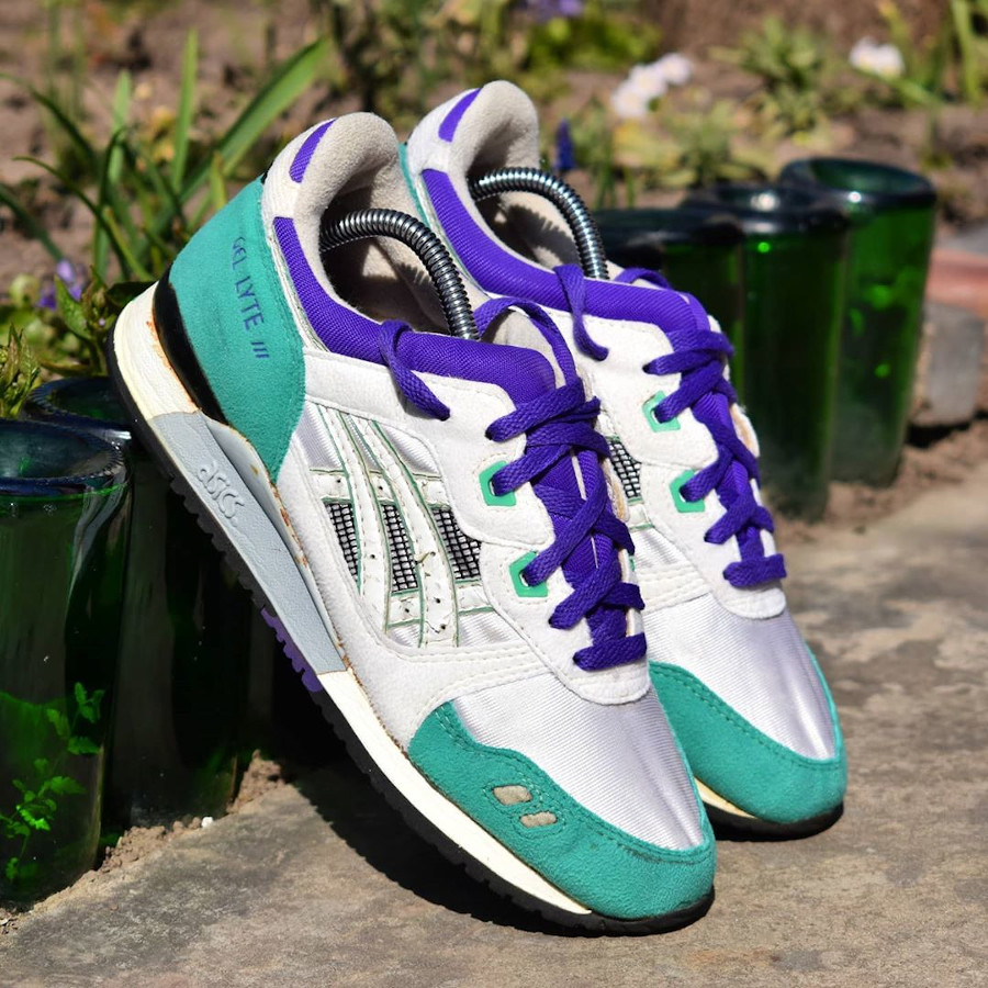 Asics Gel Lyte 3 OG 'Emerald' White Blue 1990 - @camposvintage (2)