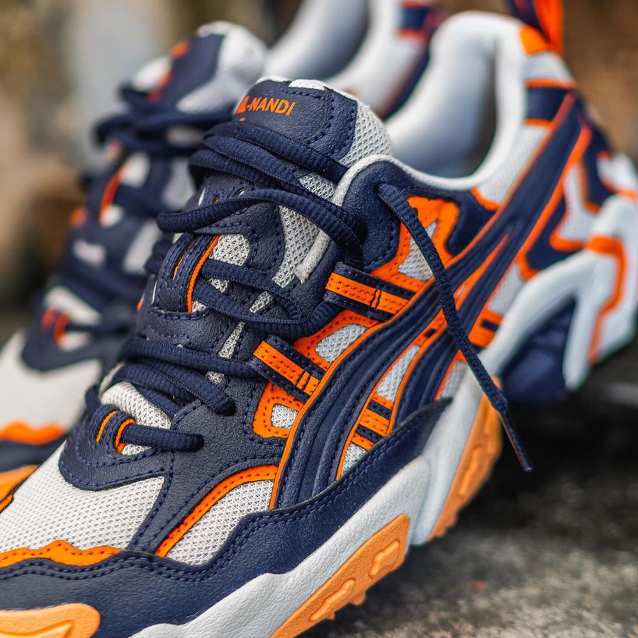 Asics Gel nandi OG bleu marine et orange (2)