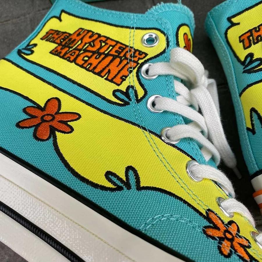 Converse All Star Chuck Taylor 70 Scooby Dou turquoise jaune et orange (3)