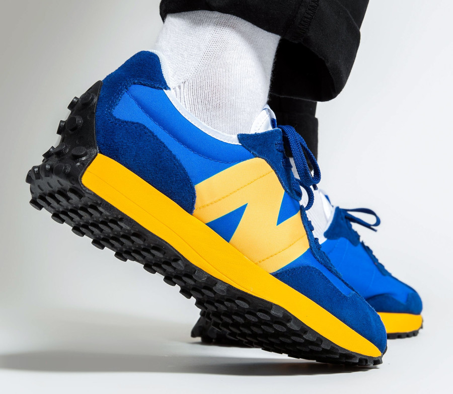 New Balance 327 MS327CLB Blue Yellow