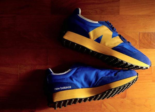 New Balance 327 bleue et jaune pour homme (1)