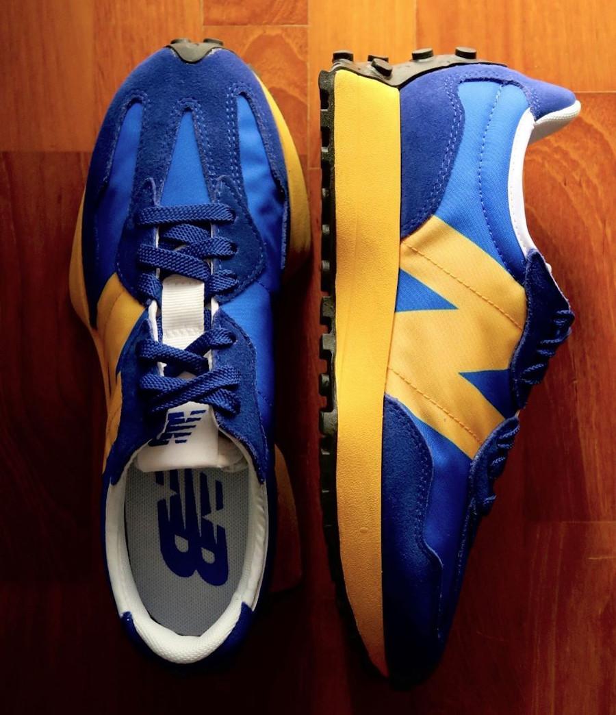 New Balance 327 bleue et jaune pour homme (2)