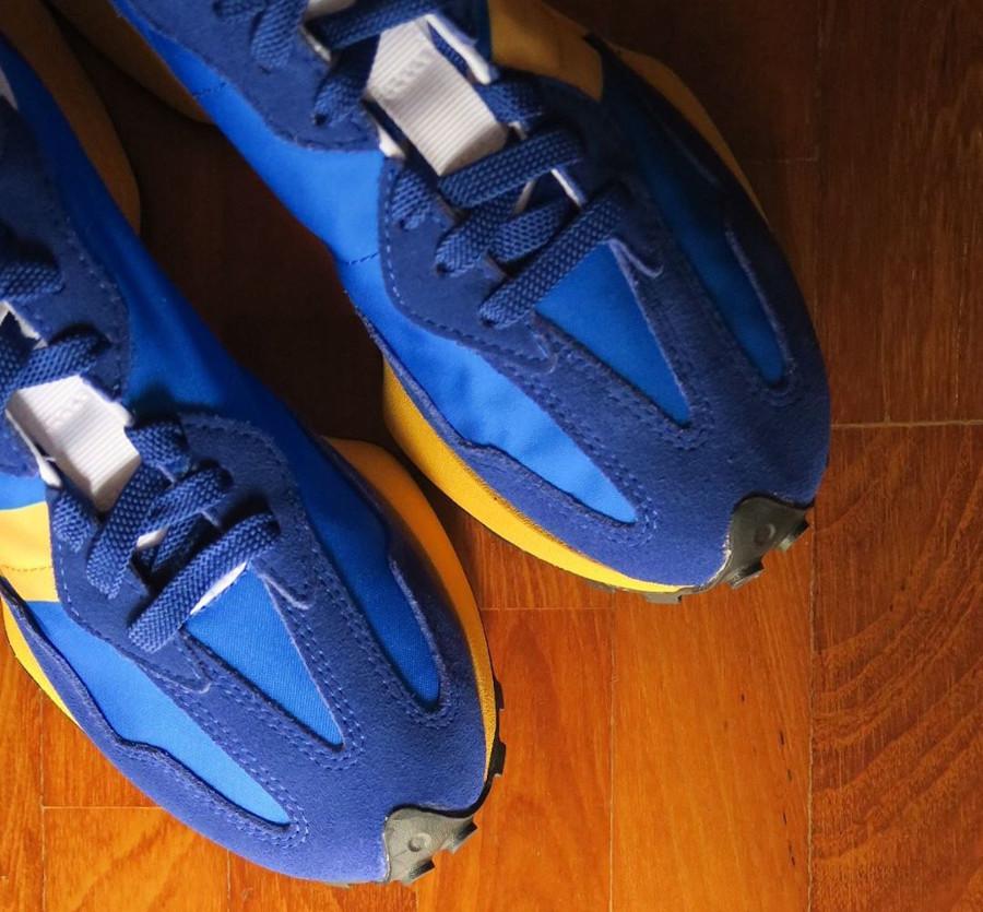 New Balance 327 bleue et jaune pour homme (4)