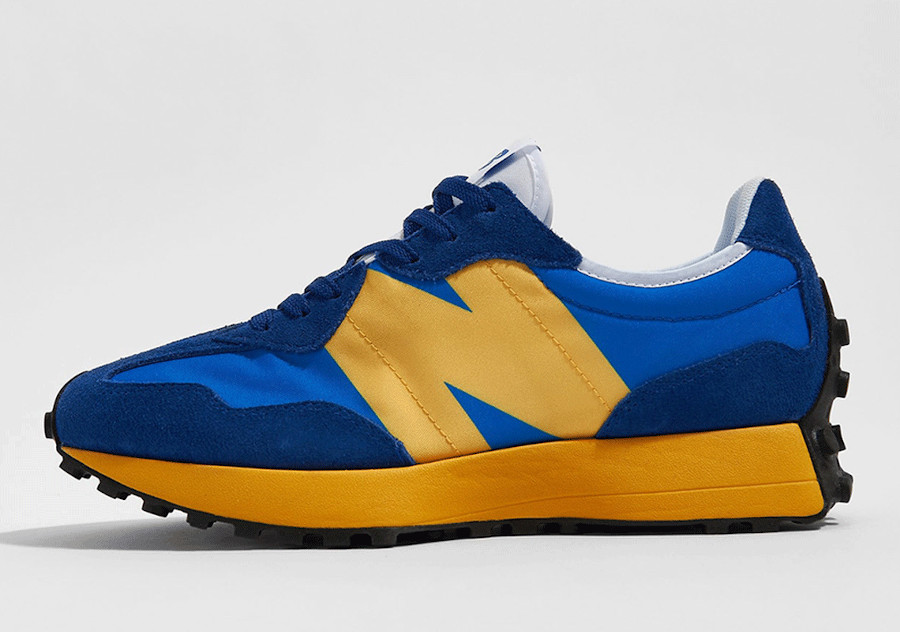 New Balance 327 bleue et jaune pour homme (5)