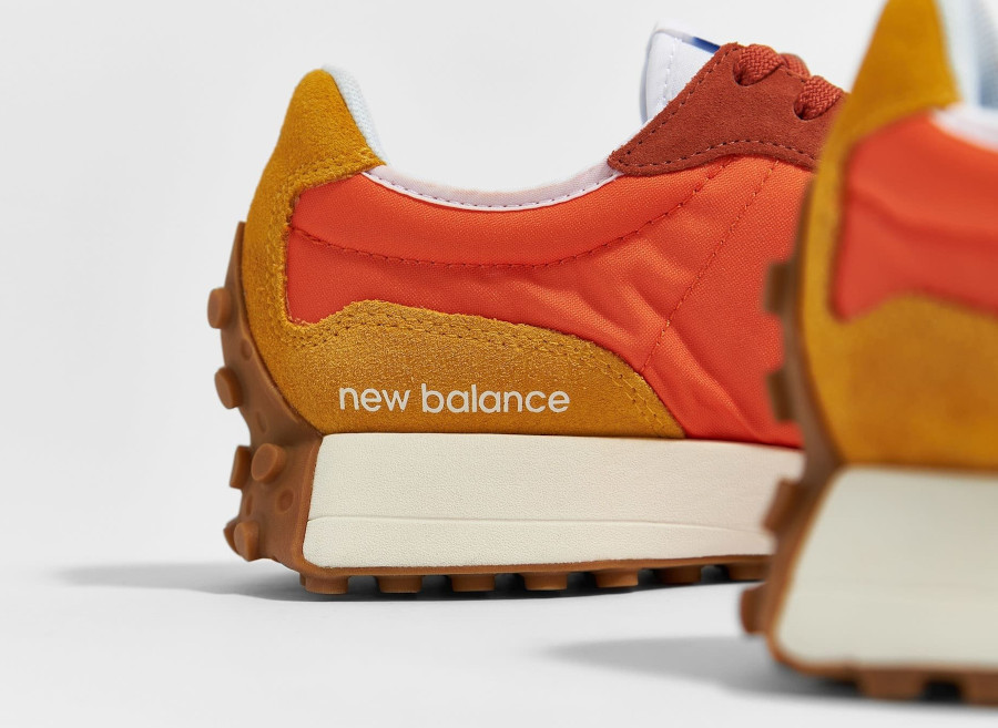 New Balance 327 homme marron orange et jaune (1)