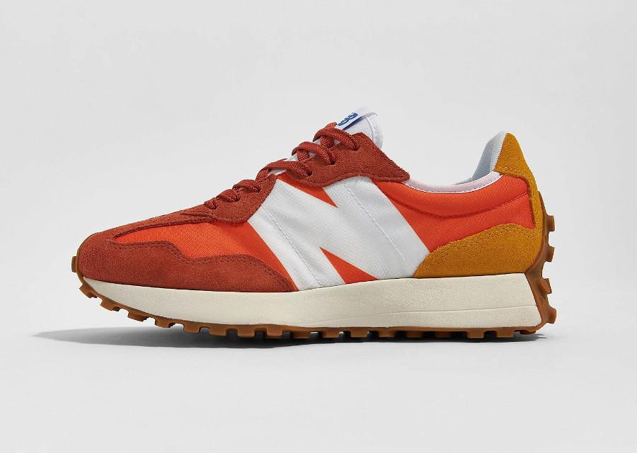 New Balance 327 homme marron orange et jaune (2)