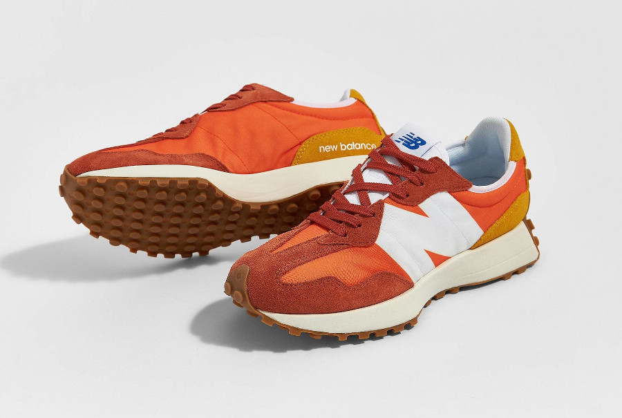 New Balance 327 homme marron orange et jaune (3)