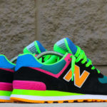 New Balance 574 Black Energy Lime