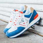 New Balance 574 Mako Blue Toro Red