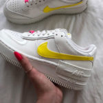 Nike AF1 Shadow 'Sail Opti Yellow Digital Pink'
