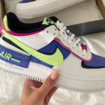 Nike Wmns AF1 Shadow Sapphire White Barely Volt Fire Pink