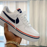 Nike Air Force 1 LV8 Ribbon 'White Obsidian Habanero Red'