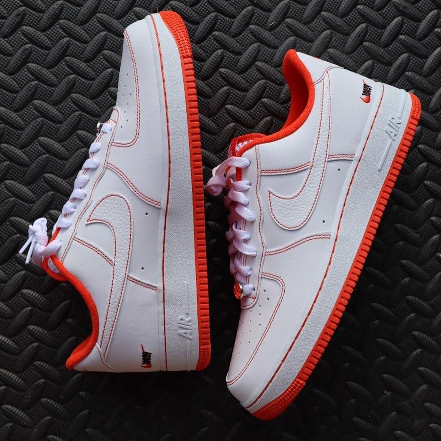 Nike Air Force 1 Playground 10039 blanche et orange (2)
