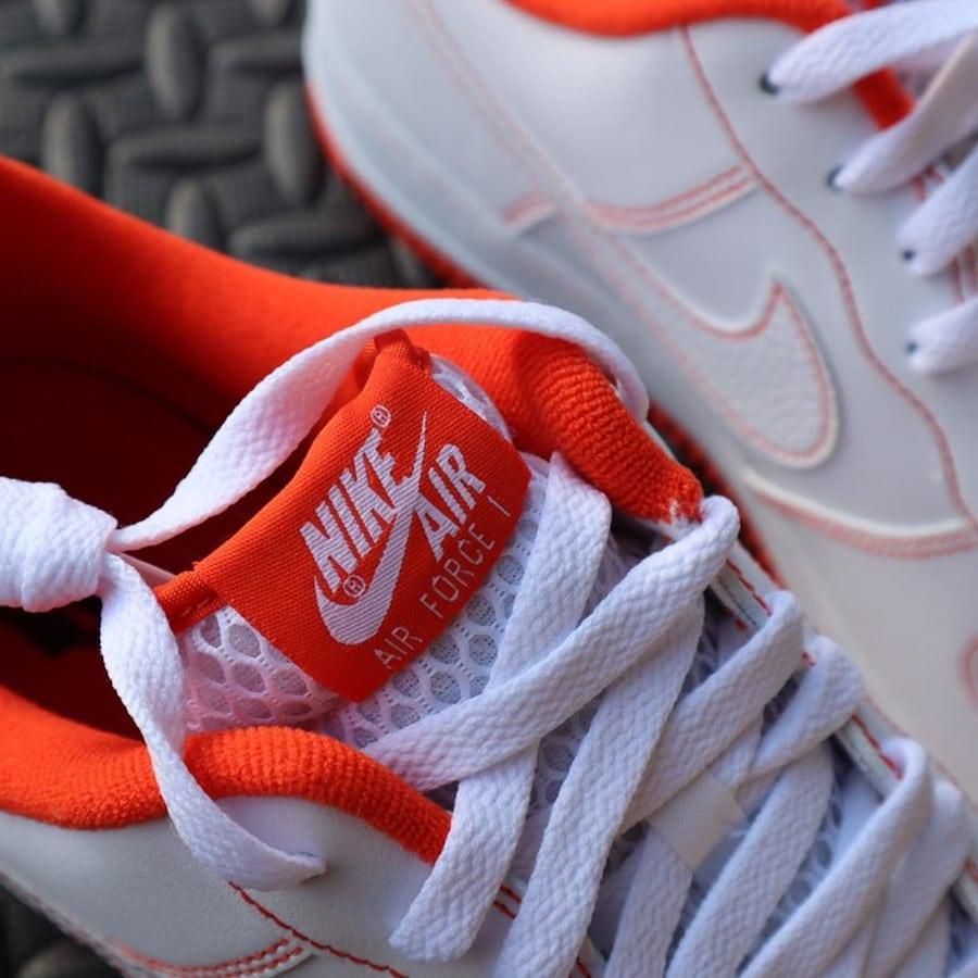 Nike Air Force 1 Playground 10039 blanche et orange (4)