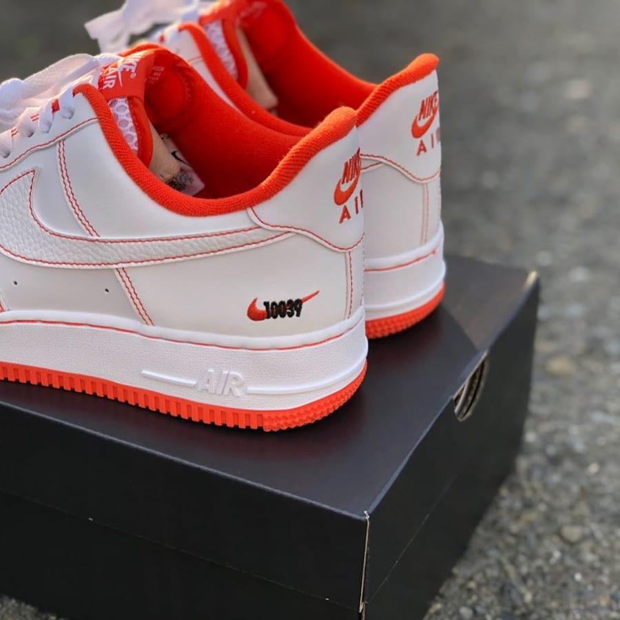 Nike Air Force 1 Playground 10039 blanche et orange (6)