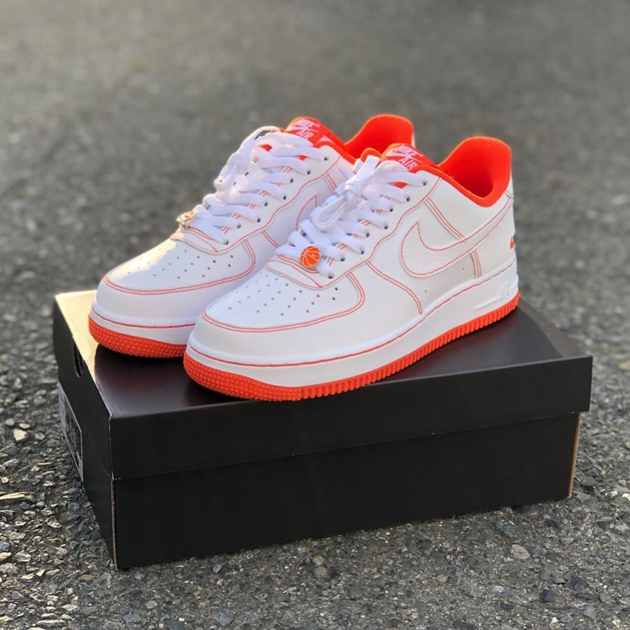 Nike Air Force 1 Playground 10039 blanche et orange (8)