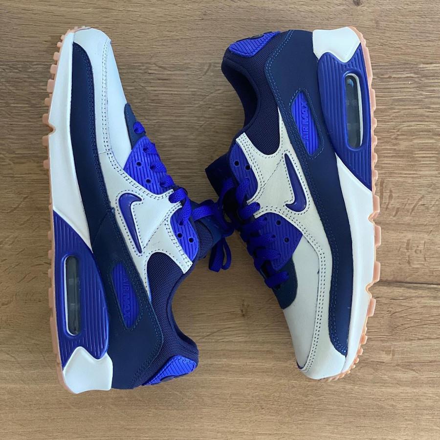 Nike Air Max 90 Premium blanc cassé violet et marron CJ0611-102 (2)