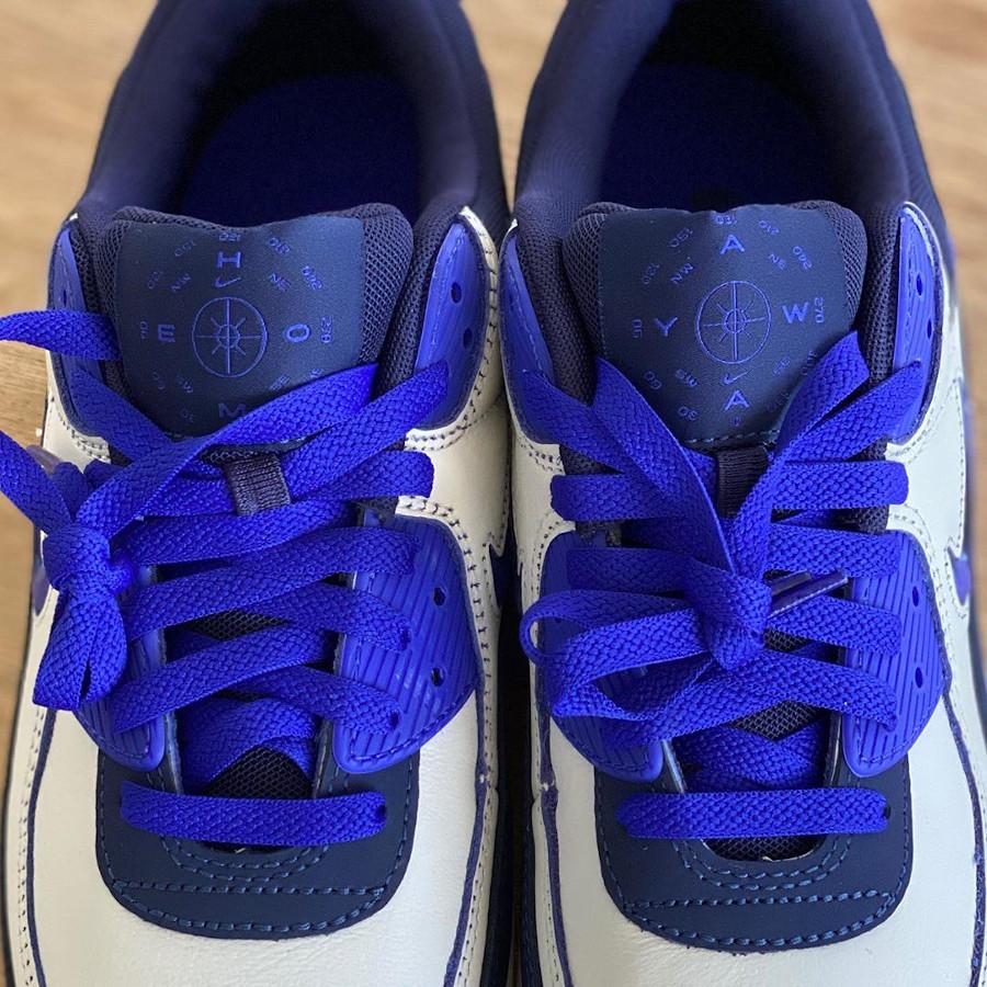 Nike Air Max 90 Premium blanc cassé violet et marron CJ0611-102 (4)